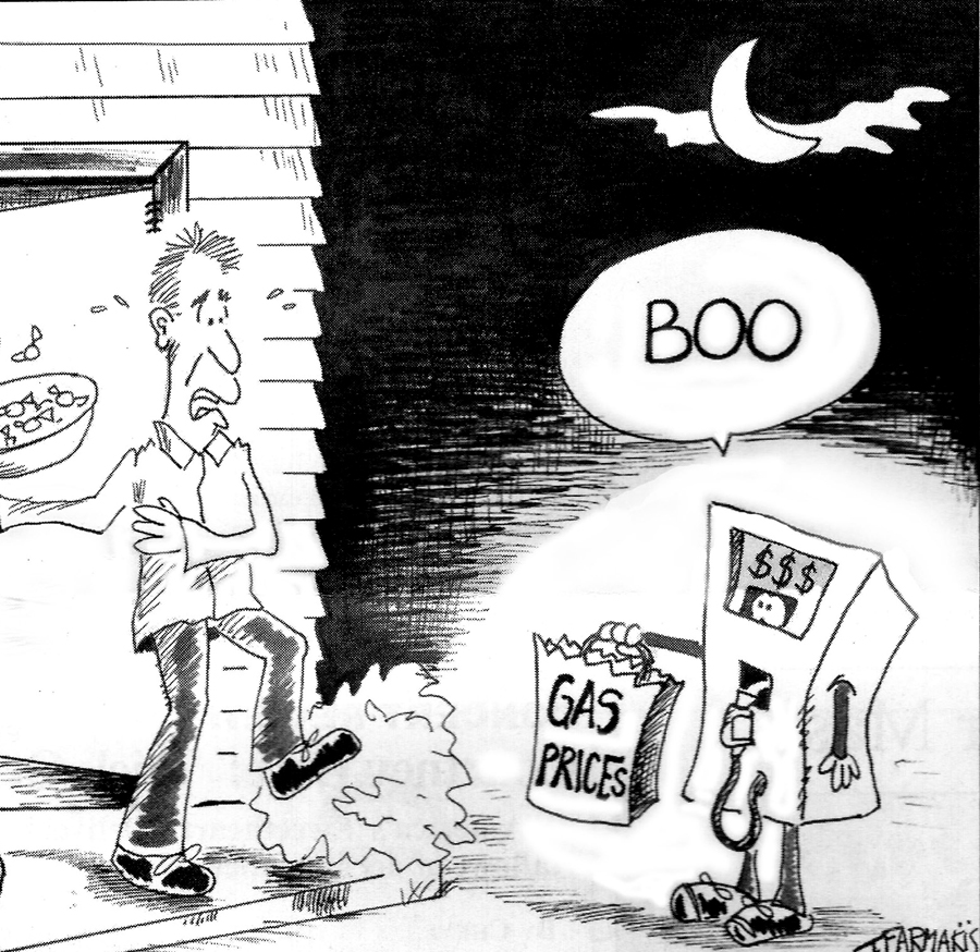 Gas Prices Editorial Toon by Tif Farmakis-Day