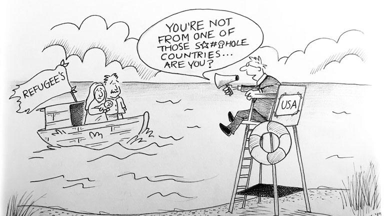 Refugee Editorial Cartoon