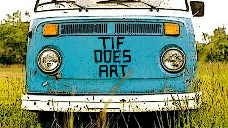 Tif Does Art Hippie Van